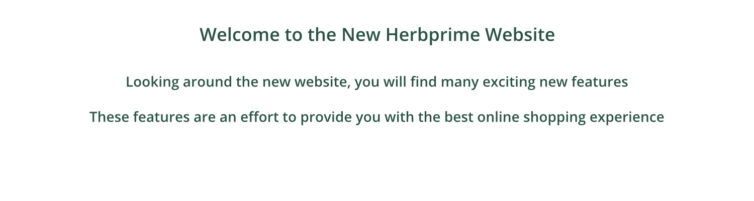 Welcome to the New Herbprime